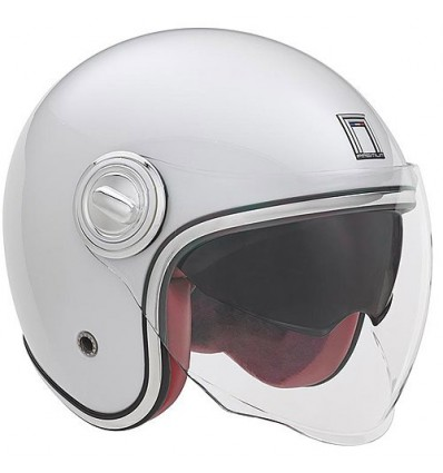 NOX vintage jet helmet moto scooter HERITAGE gloss white