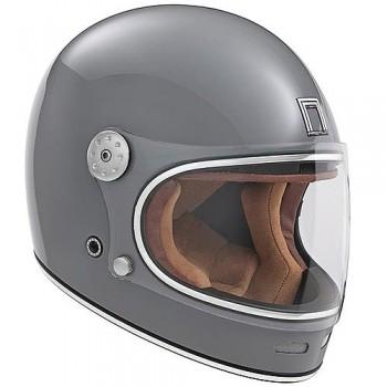 NOX casque intégral vintage FIBRE moto scooter REVENGE gris nardo brillant