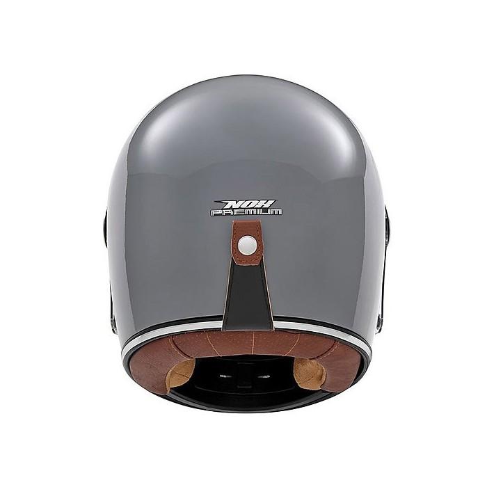 Nox Motorcycle Scooter Vintage Fiber Integral Helmet Revenge Gloss Grey