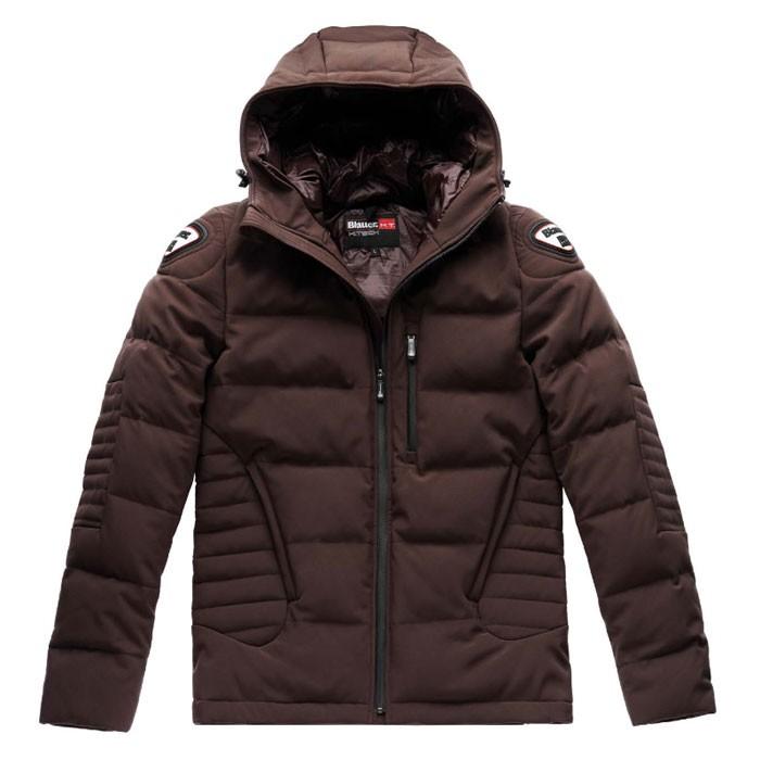 blauer blouson doudoune hiver moto scooter easy winter sportswear homme marron. Black Bedroom Furniture Sets. Home Design Ideas