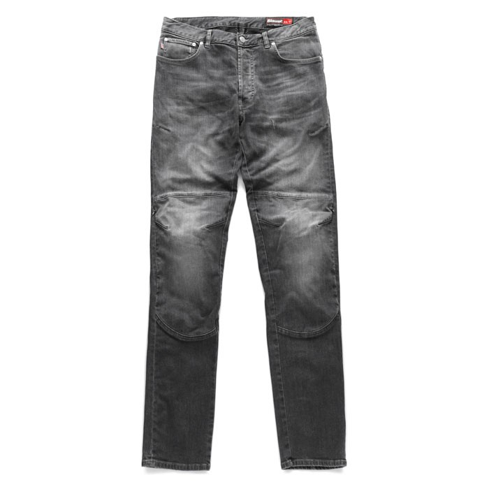 BLAUER KEVIN man Jeans motorcycle scooter pants aramide stone black