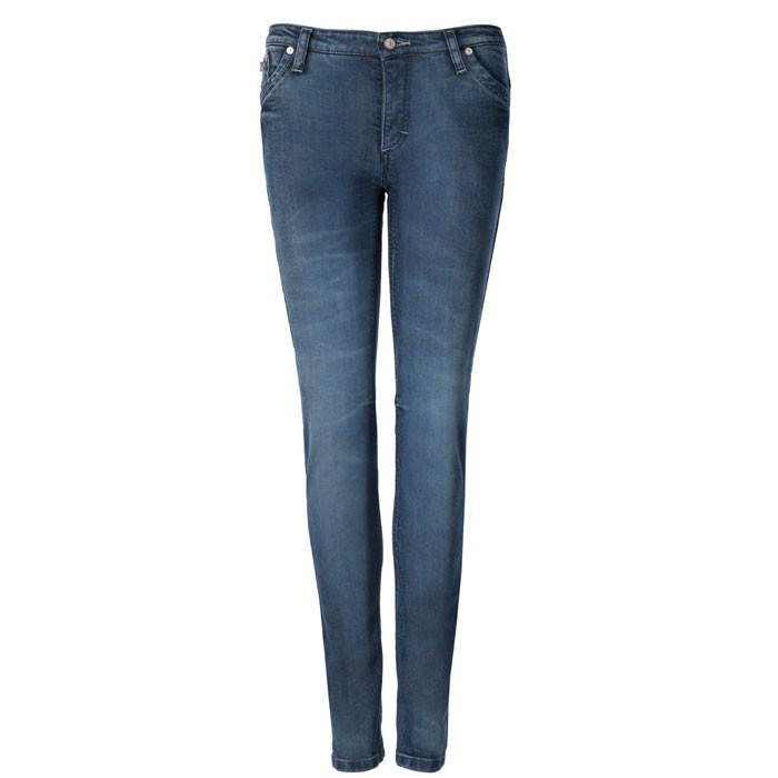 BLAUER LADY SCARLETT motorcycle scooter woman Jeans pants aramide stone wash blue