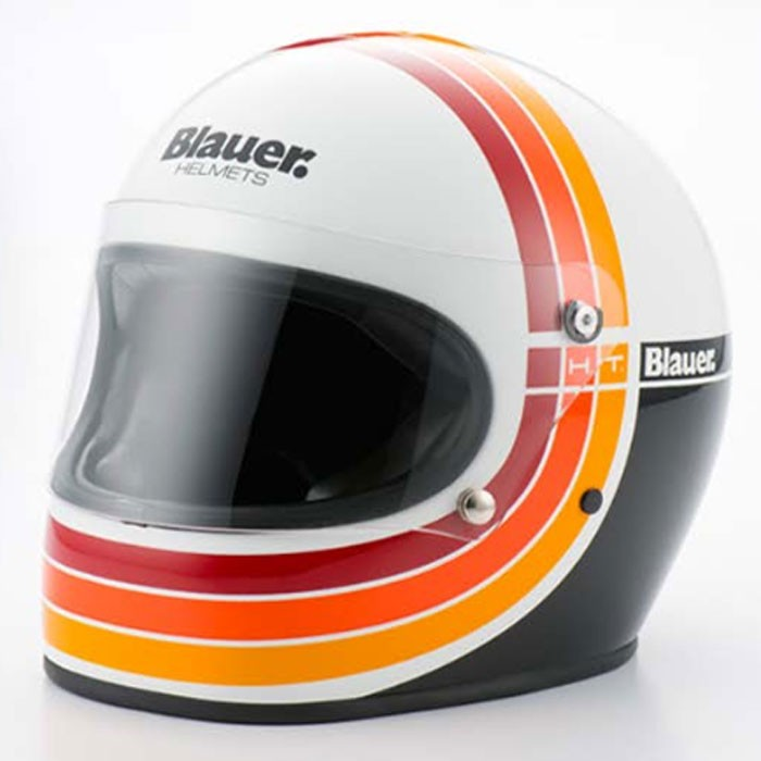 BLAUER motorcycle scooter FIBER integral helmet 80's gloss white
