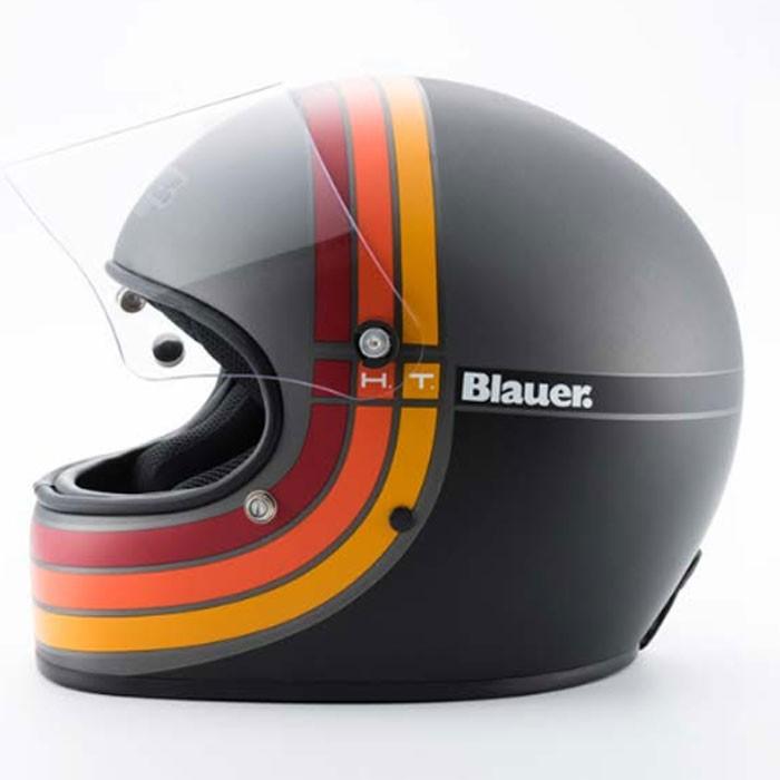 blauer casque int gral fibre moto scooter 80 39 s titane noir mat. Black Bedroom Furniture Sets. Home Design Ideas