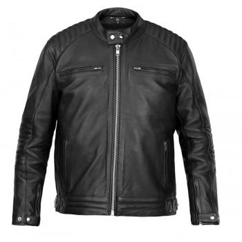 DG motorcycle CHESTER all-seasons man vintage leather jacket black PROMO