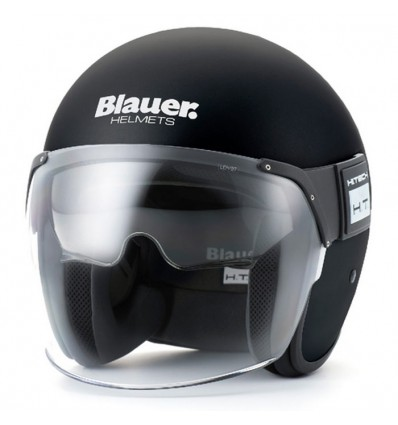Blauer jet helmet moto scooter POD fiber matt black