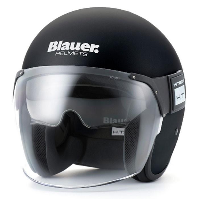 Blauer casque jet moto scooter POD fibre noir mat