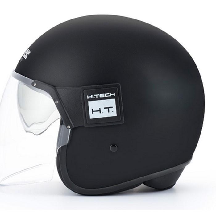 blauer casque jet moto scooter pod noir mat. Black Bedroom Furniture Sets. Home Design Ideas