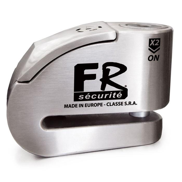 CHAFT FR SECURITE Antivol bloque disque moto scooter avec alarme FR14 INOX - SRA - AV241