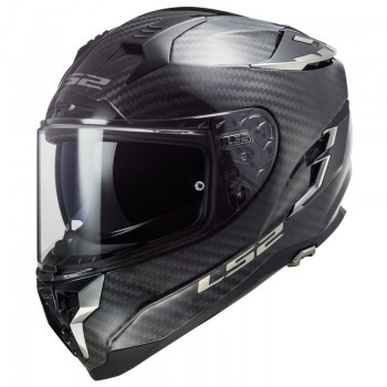 LS2 casque moto intégral en CARBONE FF327 CHALLENGER C SOLID carbone
