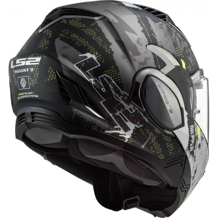 Motorcycle helmets LS2 FF900 VALIANT II GRIPPER MATT TITANIUM Black//Titanium M