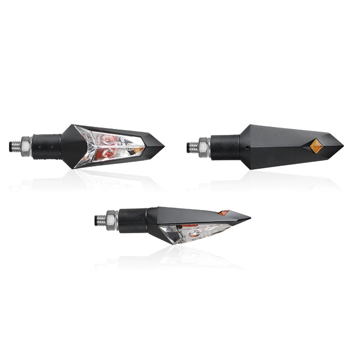 CHAFT pair of universal bulb TROOPER indicators CE approved for motorcycle