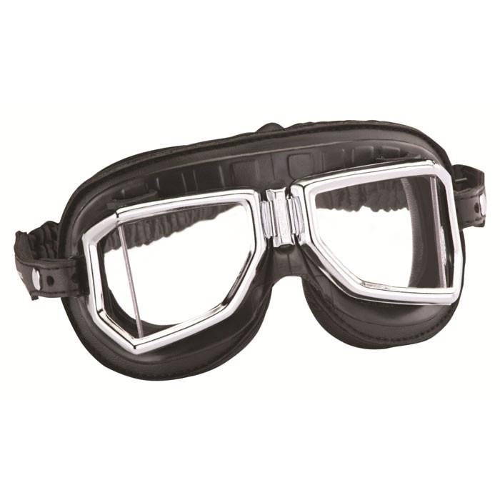 CHAFT paire de lunettes AVIATEUR universelle CLIMAX 513SNP pour casque jet rétro moto scooter LU01