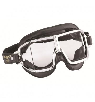CHAFT paire de lunettes AVIATEUR universelle CLIMAX 521 pour casque jet rétro moto scooter LU02
