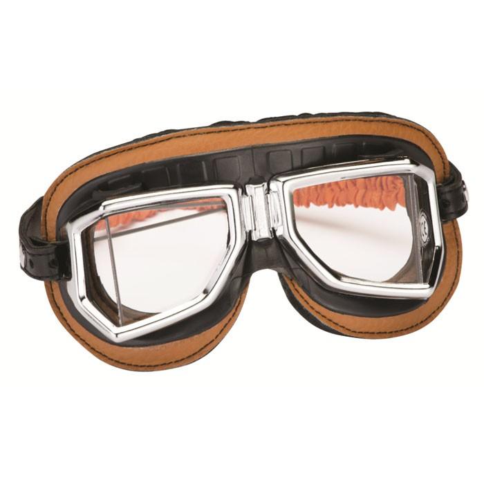 CHAFT paire de lunettes AVIATEUR universelle CLIMAX 513S pour casque jet rétro moto scooter LU06