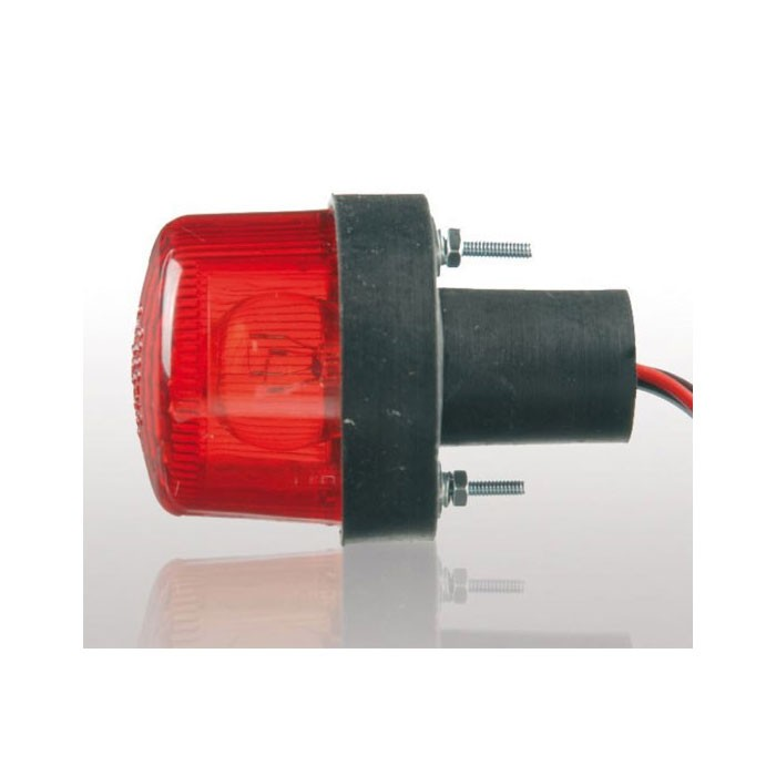 universal TOMATE round red rear bulb headlight approved for motorcycle undertray