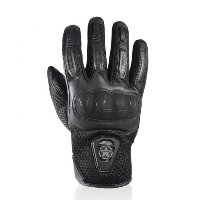 HARISSON gants LEADER EVO cuir & textile RACING moto scooter été homme noir EPI
