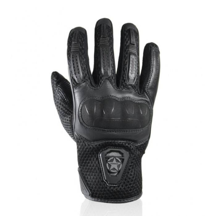 HARISSON LEADER EVO man summer motorcycle scooter RACING leather & textile gloves black EPI