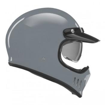 NOX motorcycle scooter cross vintage integral helmet SEVENTY gloss nardo grey