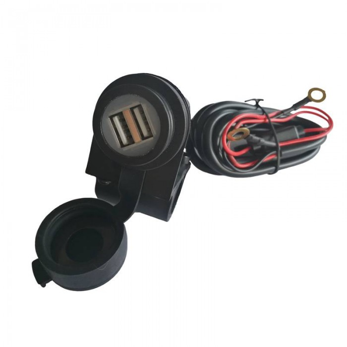 CHAFT dual USB smartphone gps charger for motorcycle scooter handlebars - IN791