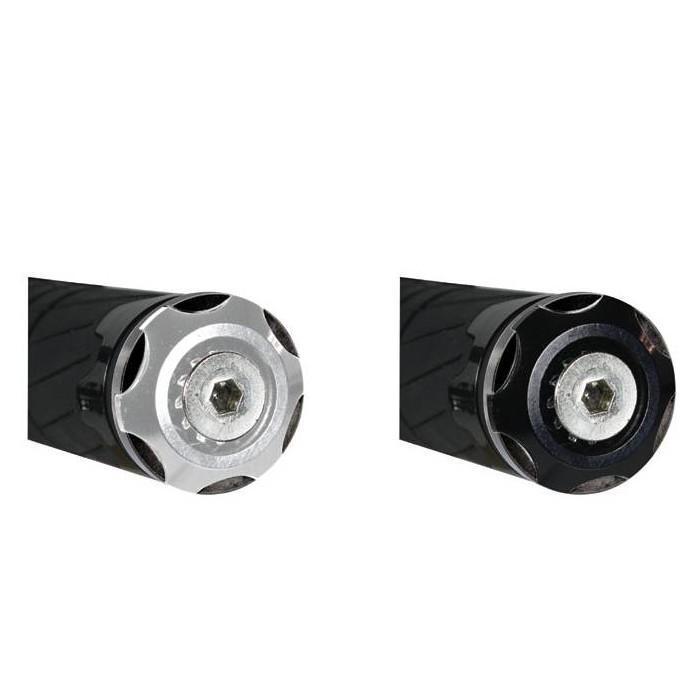 CHAFT embouts de guidon universels VEGA moto diamètre 13,8mm à 17mm - par paire