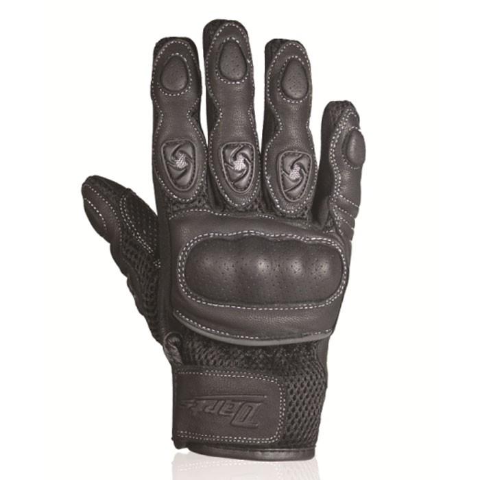 CHAFT gants SPY KID cuir & textile moto scooter été enfant RACING noir EPI