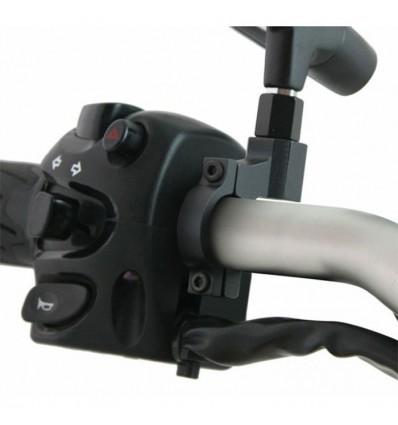 CHAFT support universel IN161 pour rétroviseur de diamètre 10mm fixation au guidon pour moto