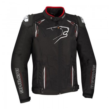 BERING motorcycle START-R racing all seasons man textile waterproof jacket black-white-red BTB1091