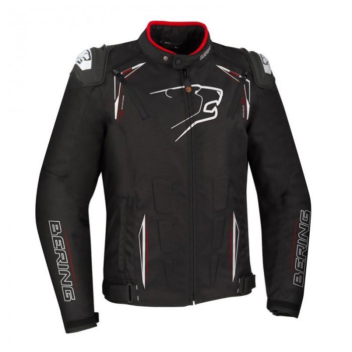 BERING motorcycle START-R racing all seasons man textile waterproof jacket black-white-red BTB1091