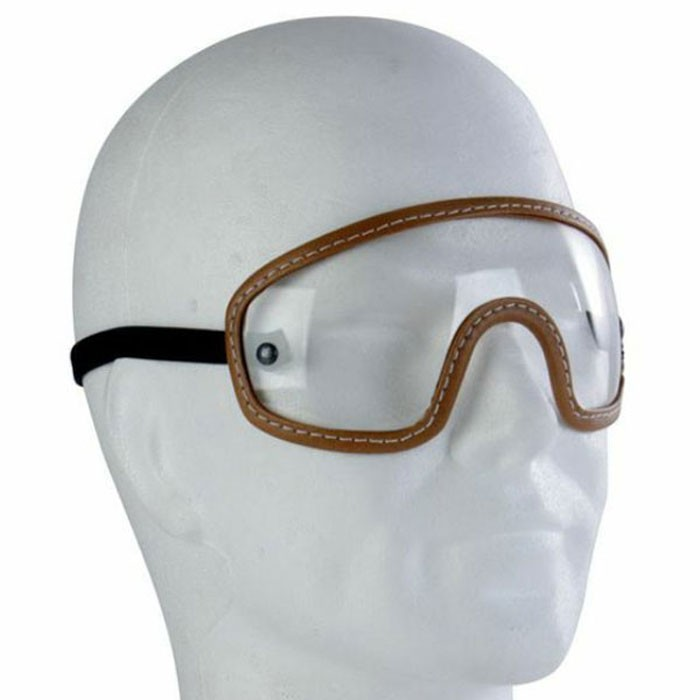 CHAFT google for motorcycle scooter jet helmet in brown leather