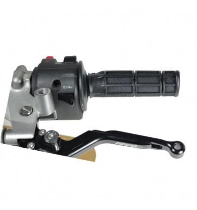 CHAFT poignées tout terrain pour guidon moto standard 22mm noir - IN21