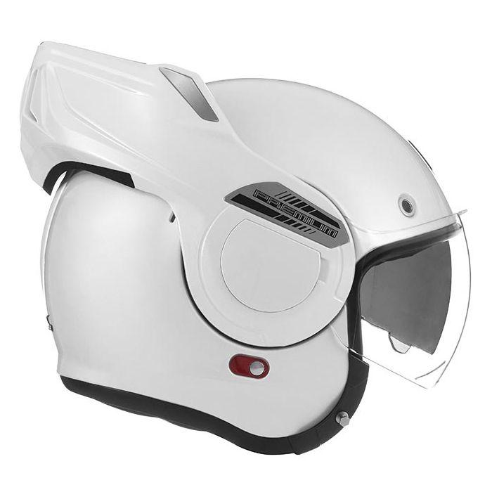 NOX casque intégral modulable en jet STRATOS moto scooter blanc brillant