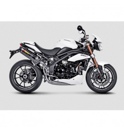 AKRAPOVIC Triumph SPEED TRIPLE 1050 & R 2011 2015 CARBON 2 exhaust silencer mufflers CE approved SLIP-ON 1811-2511