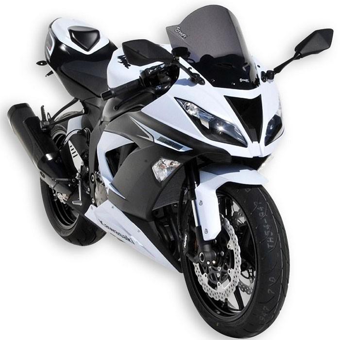 JFG RACING Protection d/écran en ABS Double Bulle pour Pare-Brise Kawasaki ZX6R ZX636 2003-2004