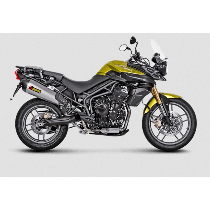 AKRAPOVIC Triumph TIGER 800 XC XR XRX XCX 2011 2015 TITANIUM exhaust silencer muffler CE approved SLIP-ON 1811-2489