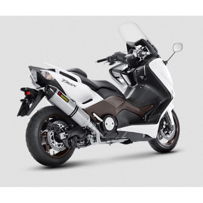akrapovic yamaha scooter tmax 500 530 2008 2016 ligne compl te racing en titane pot d 39 chappement ce. Black Bedroom Furniture Sets. Home Design Ideas
