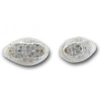 Clignotants avant blanc à LED homologué E11 pour motos YAMAHA N°35Y