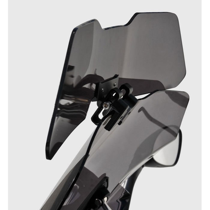clip flip d flecteur universel pour bulle pare brise moto scooter grand mod le 37cm x 12cm. Black Bedroom Furniture Sets. Home Design Ideas