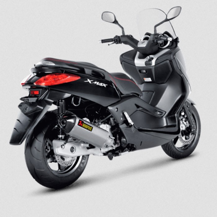 akrapovic yamaha xmax 125 abs 2011 2016 pot d 39 chappement inox homologu ce slip on 1811 2986. Black Bedroom Furniture Sets. Home Design Ideas