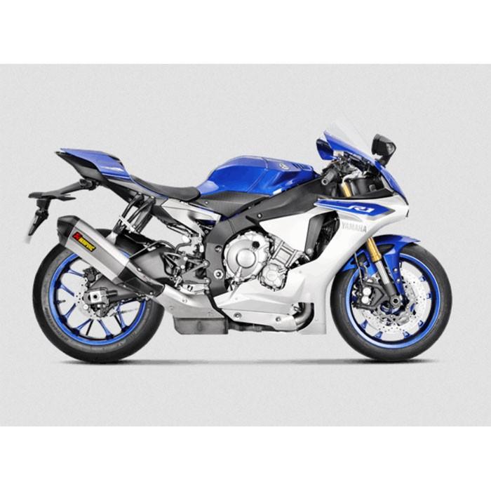 AKRAPOVIC Yamaha YZF R1 2015 2016 pot d'échappement TITANE homologué CE SLIP-ON 1811-3134