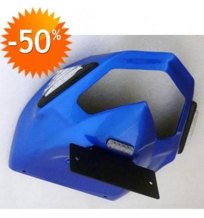 ERMAX support de plaque Kawasaki ZX6R 2009 à 2013 bleu métal + TRI