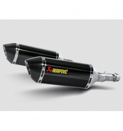 AKRAPOVIC kawasaki Z1000 2010 2013 CARBON 2 exhaust silencer mufflers CE approved SLIP-ON 1811-2309