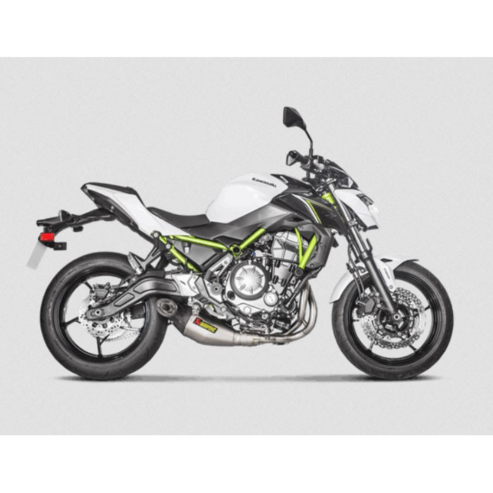 AKRAPOVIC Kawasaki Z650 2017 2020 ligne complète RACING en TITANE pot d'échappement 1810-2411