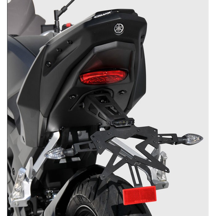 ermax yamaha mt125 2014 2017 license plate holder alu sup10 black. Black Bedroom Furniture Sets. Home Design Ideas