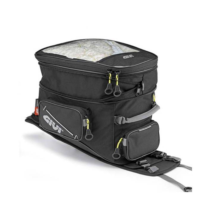 givi sacoche de r servoir ea110b avec base pour moto trail extensible 25l. Black Bedroom Furniture Sets. Home Design Ideas