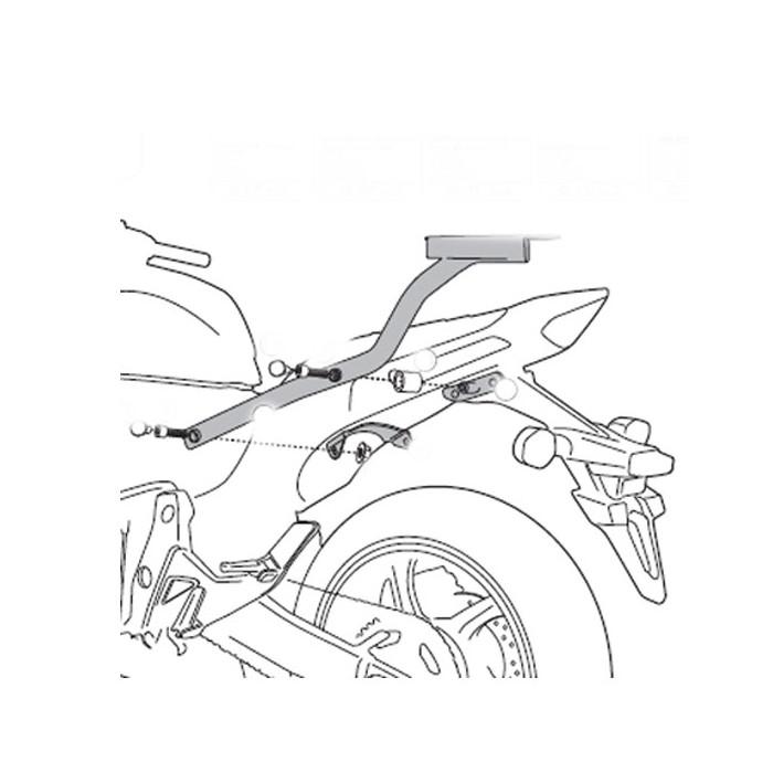 Sella Confort Moto Bagster Ready Honda Hornet 600 11-13