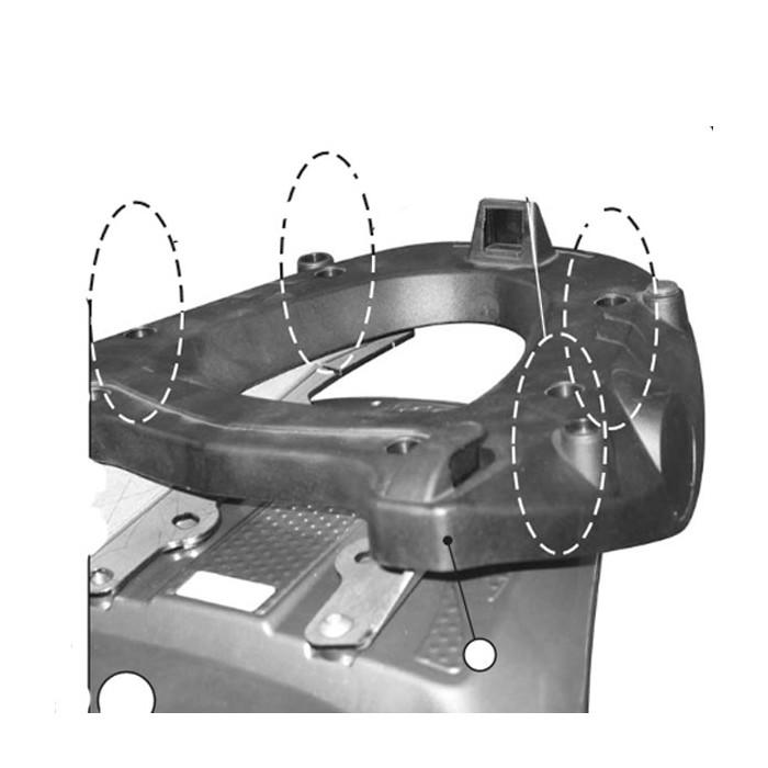 Givi E225 Topcase la Plaque de Support de Valise Monokey avec une Plaque