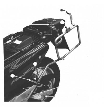 GIVI PL167 support for luggage side case GIVI MONOKEY honda XL 650 V TRANSALP 2000 to 2007