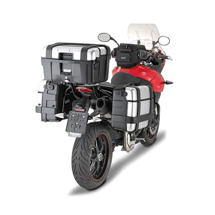givi plr6404 support liaison rapide pour valise lat rale monokey triumph tiger sport 1050 13 16. Black Bedroom Furniture Sets. Home Design Ideas