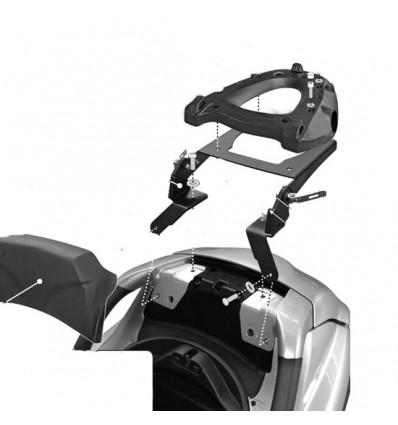 GIVI SR134M support basculant top case MONOLOCK PIAGGIO MP3 125 250 300 400 LT 07 à 12 porte bagage